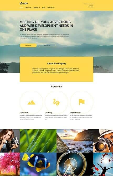 Advertising Co WordPress Theme