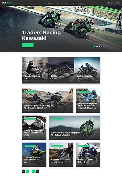 Bikers Club WordPress Theme