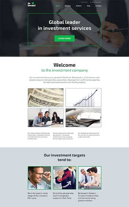 Smart Investment Company WordPress Theme