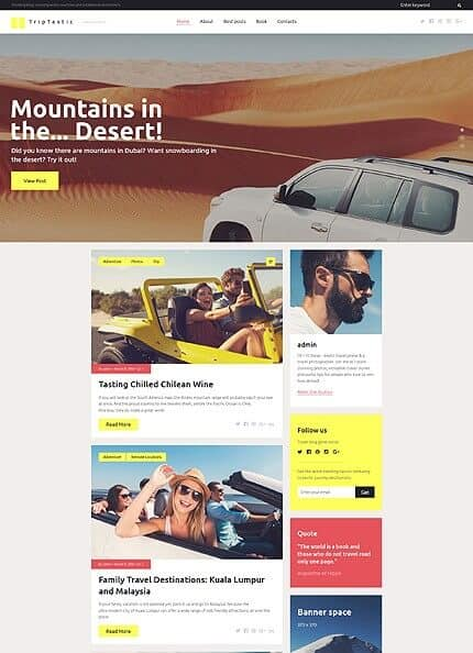 Exotic Travel WordPress Theme