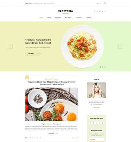 Vegetarians Blog WordPress Theme