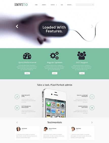 Blurred Mobile Company Template