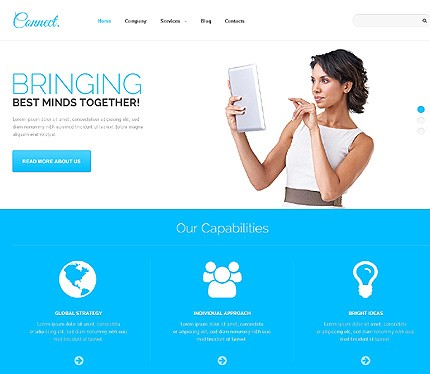 Communications Responsive Template