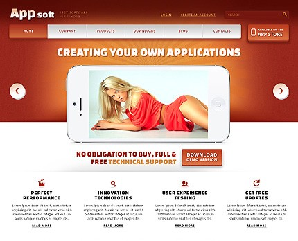 Smartphone Software Store Template
