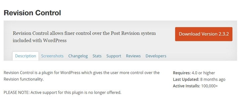 Manage Post Revisions in WordPress