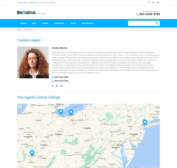 Bellaina - Professional WordPress Template for Real Estate Business