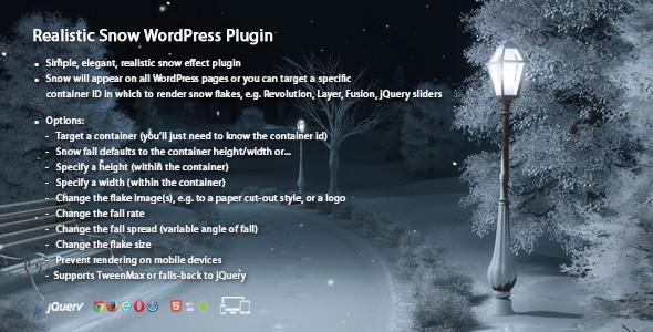 Realistic Snow WordPress Plugin