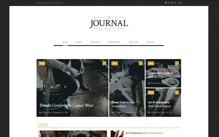 The Journal is the perfect WordPress theme for bloggers.