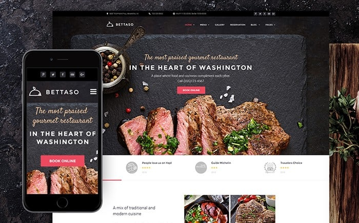 The Recent Selection of the Best 15 Bright and Multifunctional WordPress Restaurant Themes