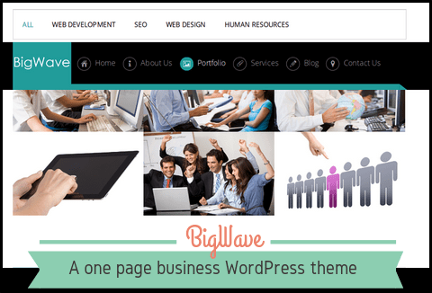 BigWave – One Page Free Business WordPress Theme