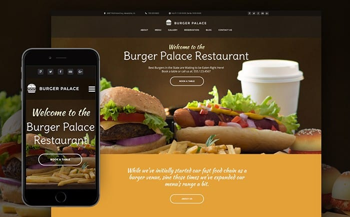 Pleasant and Easy in Use Fast Food WordPress Theme