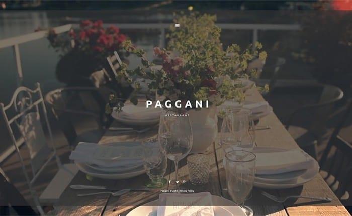 Paggani – Unbelievable Cafe WordPress Theme