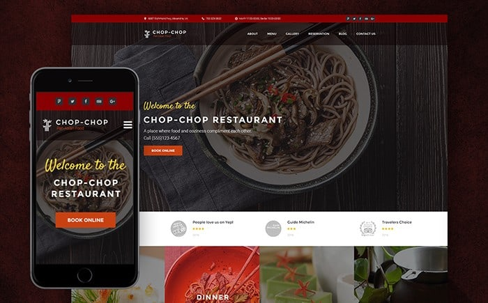 Chop-chop – Cool Asian Restaurant WordPress Theme