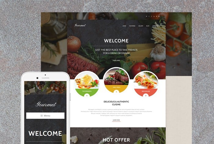 Modern and Responsive Cafe WordPress Theme