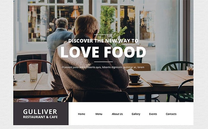 Stylish and Notable Cafe and Restaurant WordPress Theme b