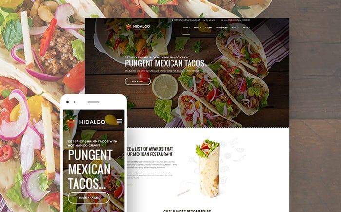 Tasty Mexican Food Restaurant WordPress Theme