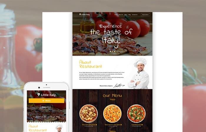 Eye-catching Italian Restaurant WordPress Theme