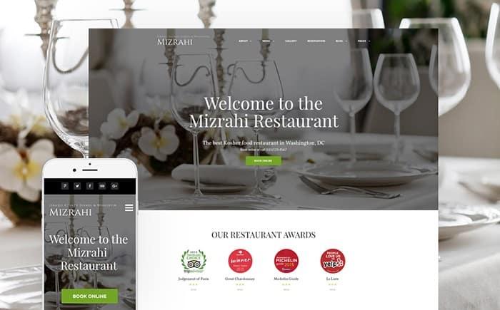 Charming and Elegant Kosher WordPress Theme