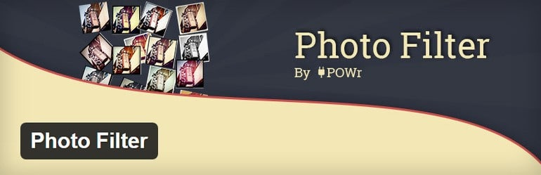 Photo Filter applies Photoshop-style filters to a single image on a page.