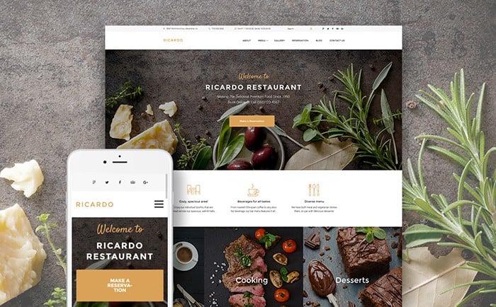 Soft and Powerful European Restaurant WordPress Theme