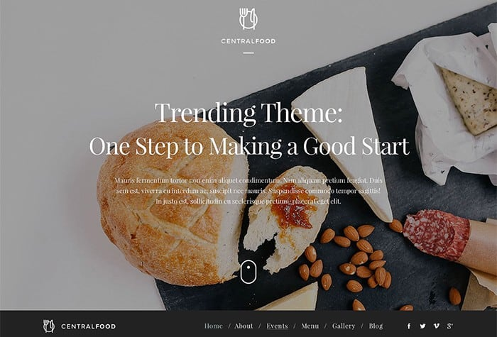 Remarkable Cafe and Restaurant WordPress Theme