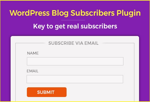 Blog Subscriber WordPress Plugin – Your Key to Real Subscribers