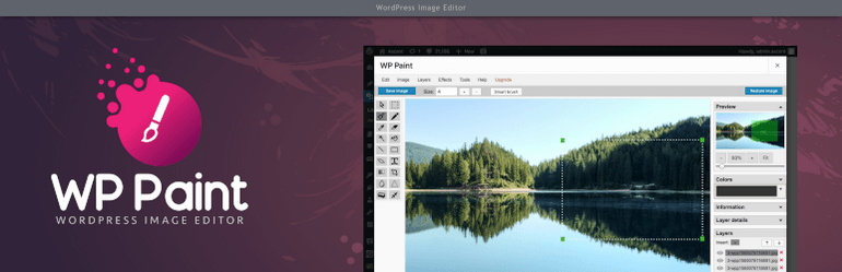 WP Paint is one of the best image editor plugins available for free in WordPress.