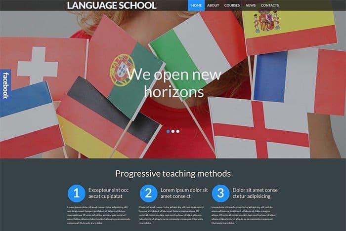 Foreign Language School Responsive WordPress Theme