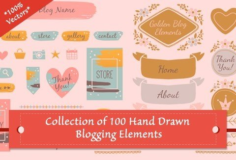 Free Hand-Drawn Web Design Elements for a Perfect Blog