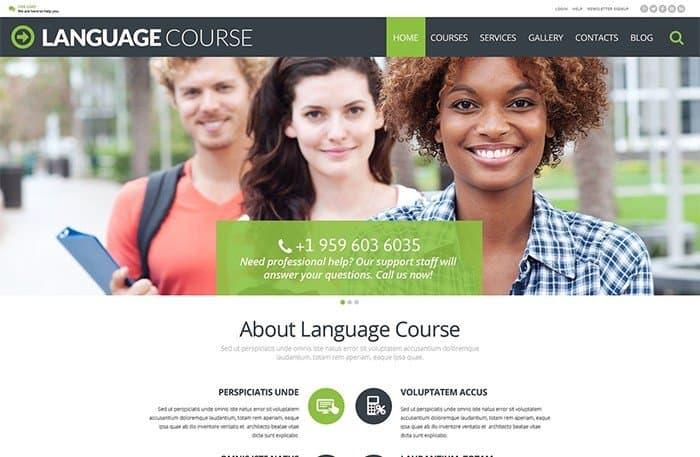 Language Course WordPress Template