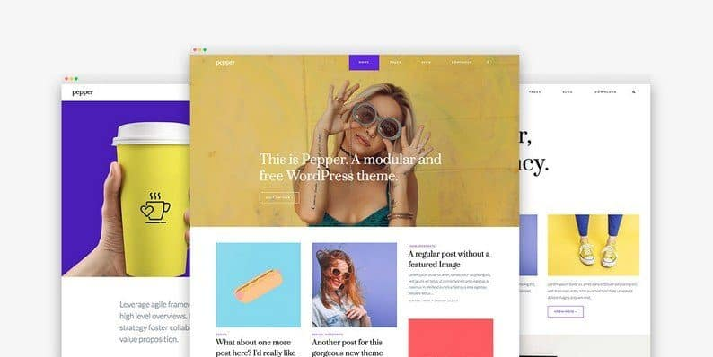 Pepper: An Interesting Free Modular WordPress Theme