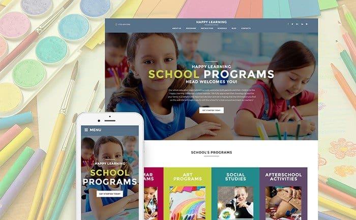 WordPress Theme for Primary School