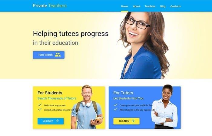 Private Teachers WP Theme