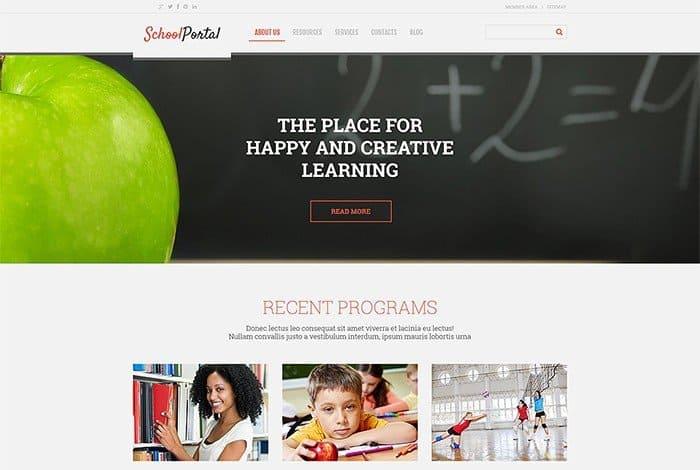 School Portal Responsive WordPress Theme