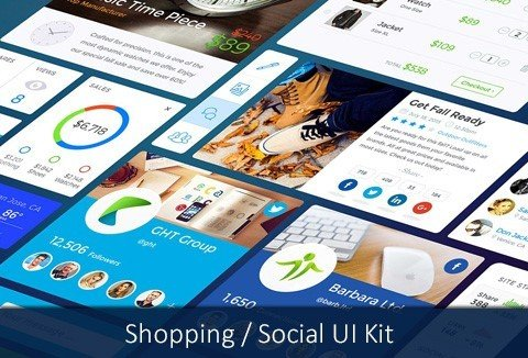 Free UI Kit to Tantalize Your Shopping or Social website
