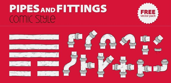 Pipe & Fitting Free Vector Pack To Captivate Your Audience