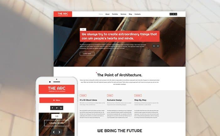 The Arc - Responsive Construction WordPress Theme