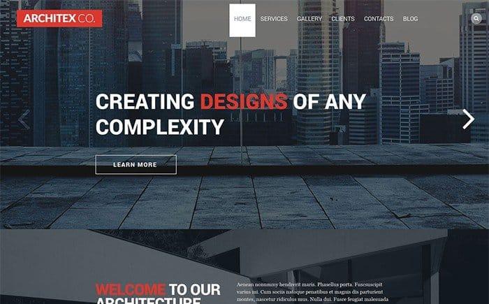 Architex Co. - Architecture WordPress Template