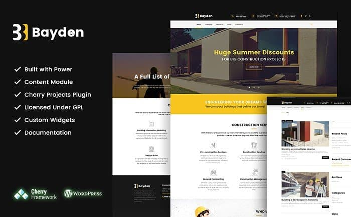 20 Professional Construction and Architecture WordPress Themes 2017