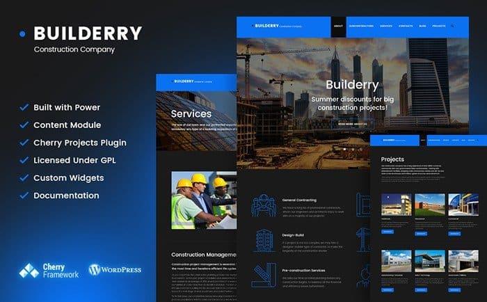Buildery - Construction WordPress Theme