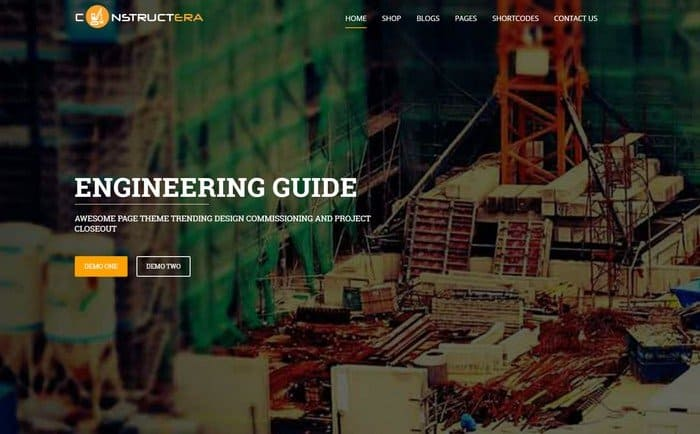 Constructera is a WordPress theme specially built for construction companies and building firms.