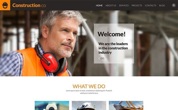 Construction Co. Business WordPress Theme