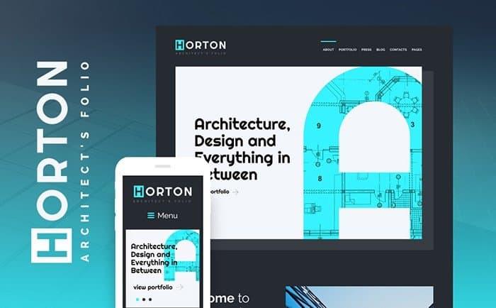 Horton - Architect's Portfolio WordPress Theme