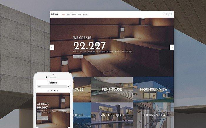 Interna - Architecture Portfolio WordPress Theme