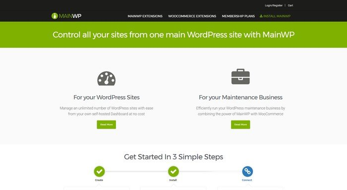 Control all your sites from one main WordPress site with MainWP