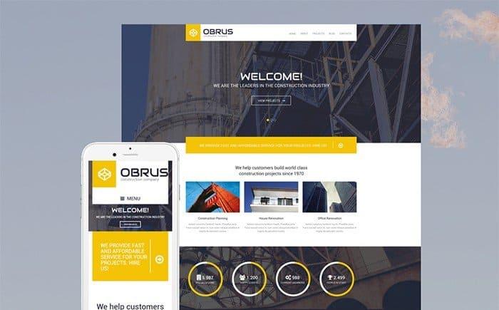 Obrus - Construction WordPress Theme