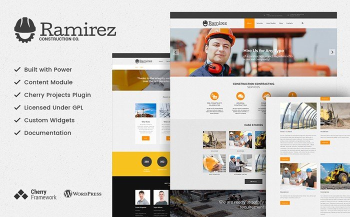 Ramirez - Construction Company WordPress Theme