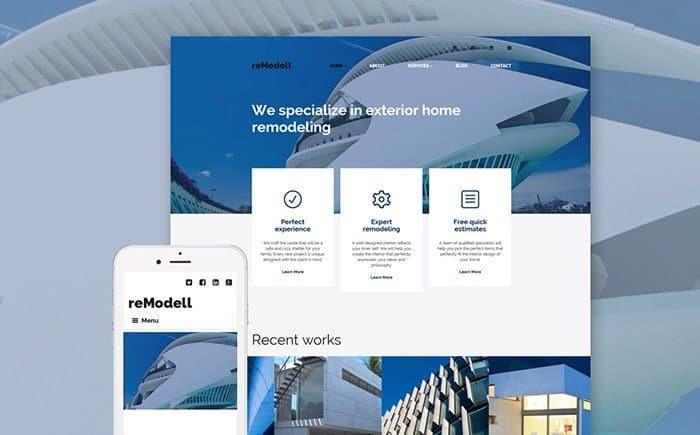 reModell - Architect WordPress Theme