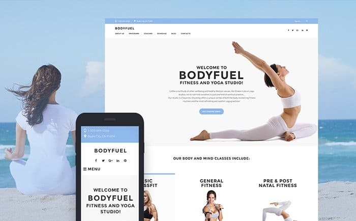 BodyFuel Fitness & Yoga WordPress Theme
