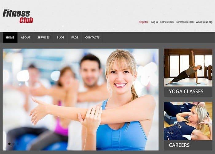 Fitness Club Responsive WordPress Theme